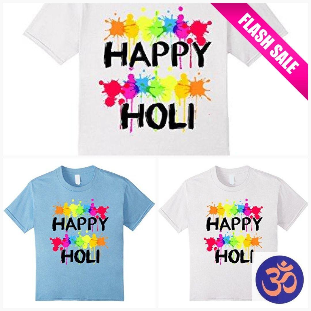 Various Sizes//Colours India Holi T-shirt Festival Of Colours