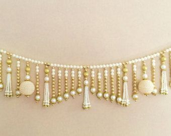 Toran Beautiful Indian pearl door hanging by AplusACrafts on Etsy