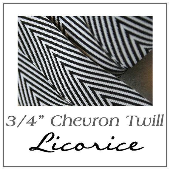 """3/4"""" chevron twill ribbon - $0.79/yard"""