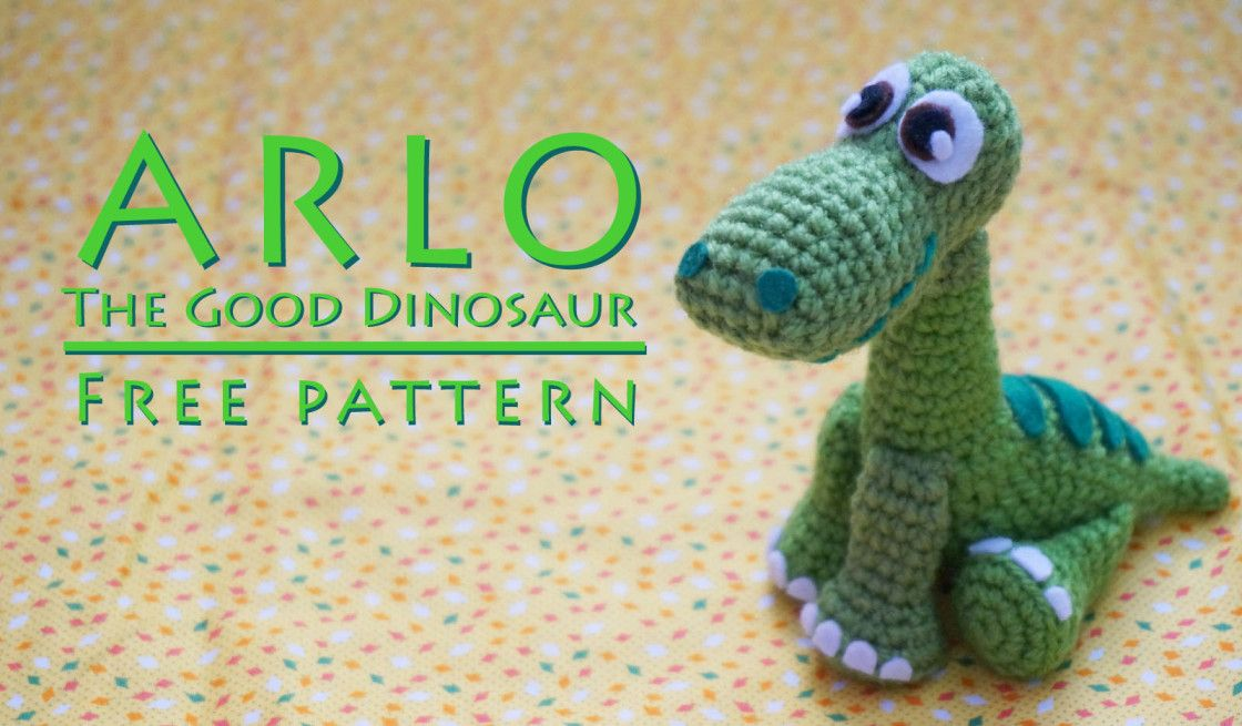 FREE PATTERN: Arlo from 'The Good Dinosaur' #crochetdinosaurpatterns