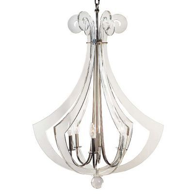 Acrylic Silhouette Chandelier Clear Lucite Lighting Modern