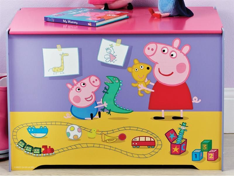Peppa Pig Toy Box. Peppa Pig Toy Box   Coraline s space    Pinterest   Toy boxes