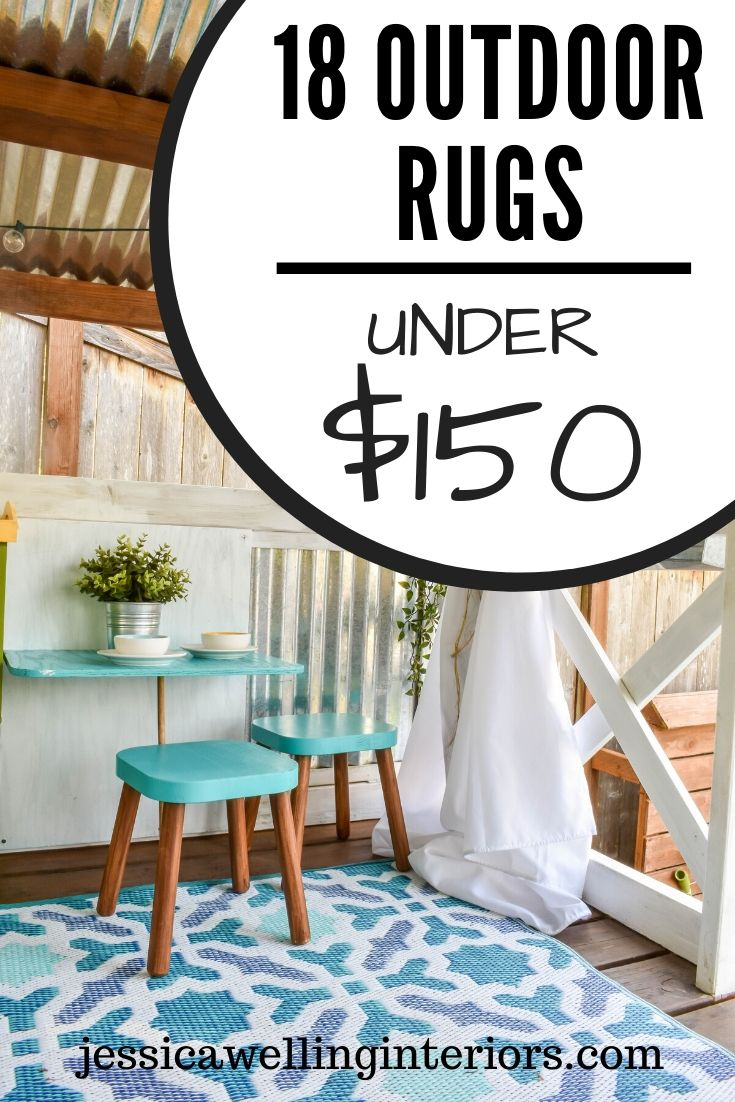 70 Outdoor Rugs Under 150 Colorful Modern Stylish Jessica Welling Interiors In 2020 Outdoor Rugs Patio Large Outdoor Rugs Waterproof Outdoor Rugs