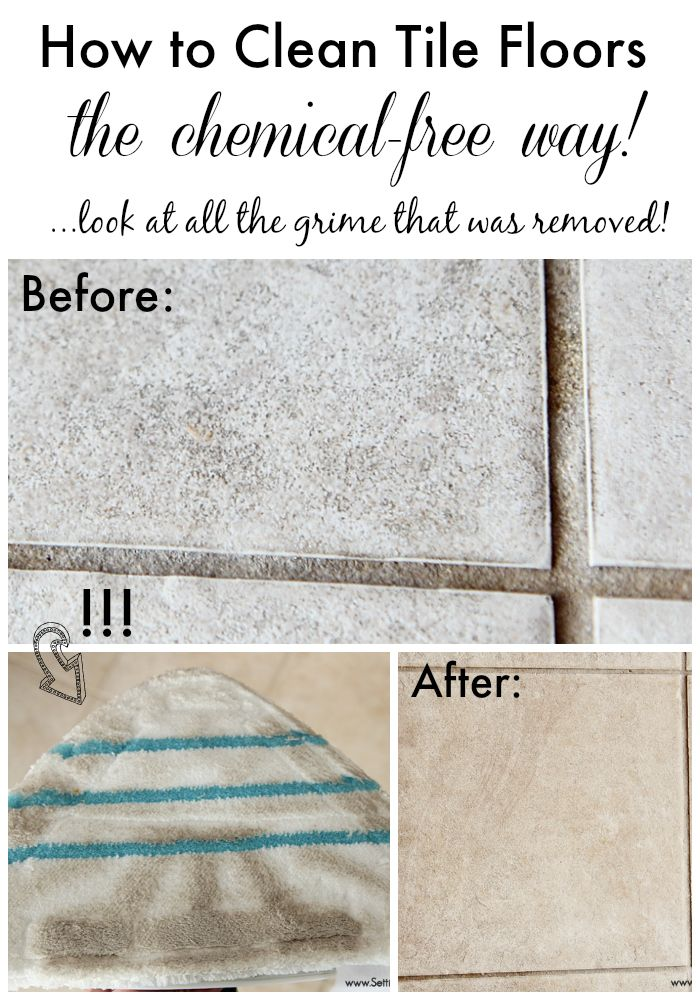 How To Clean Tile Floors The Chemical Free Way Pinterest Grout