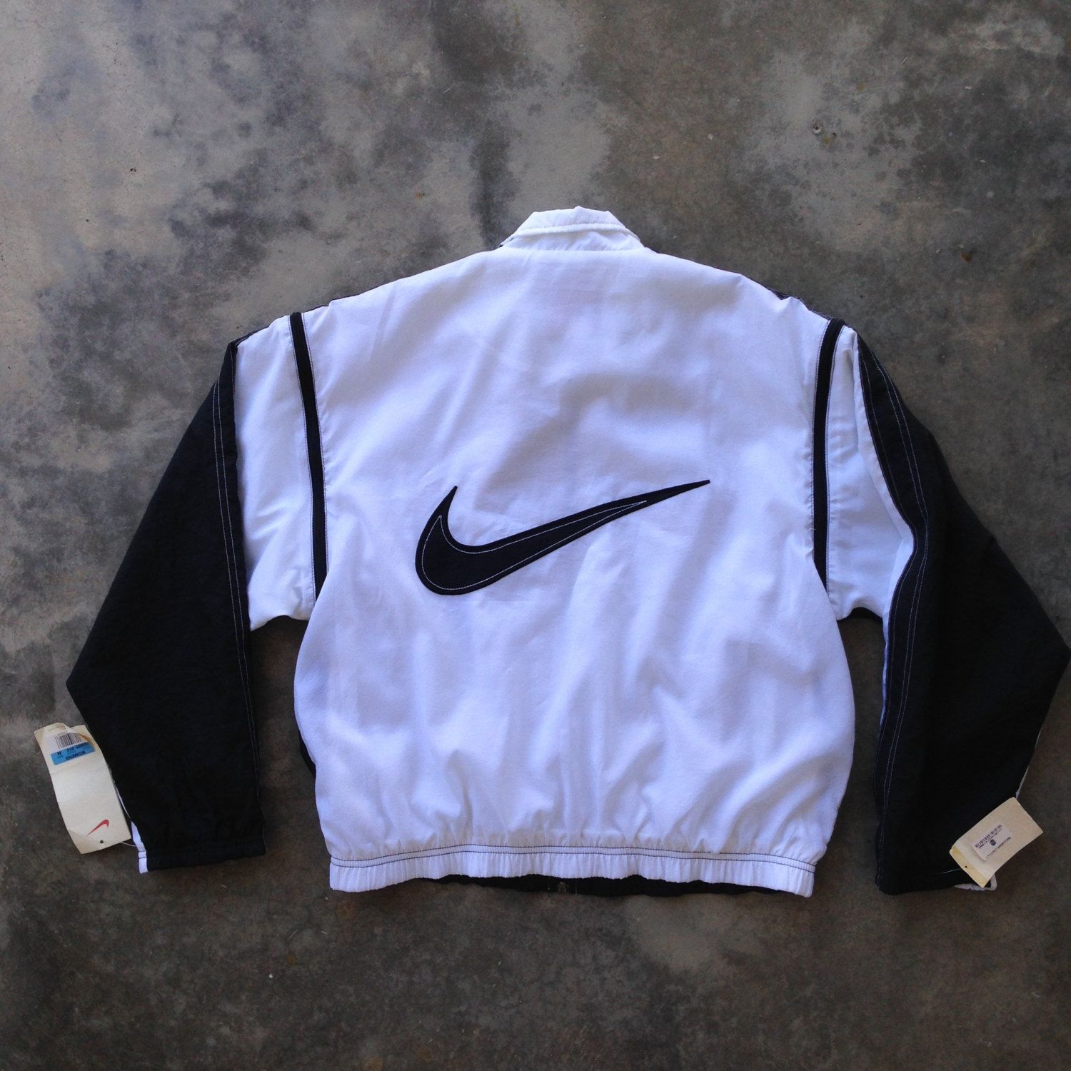 Vintage 90s Nike White/Black 'Detachable Sleeves' Windbreaker Jacket /  Deadstock , NWT// (Med)