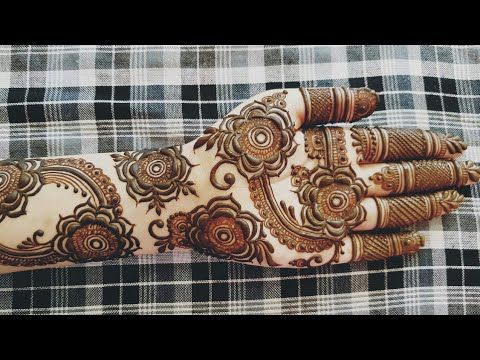 New Gulf Mehndi Design For Eid 2018 Heena Vahid Youtube