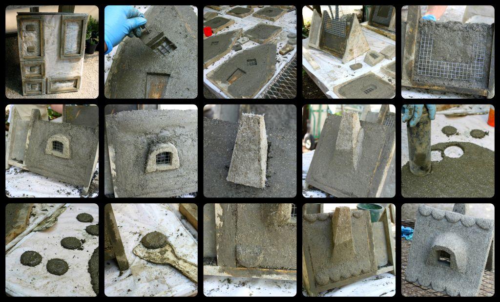 Hypertufa Cottages Creation Collage
