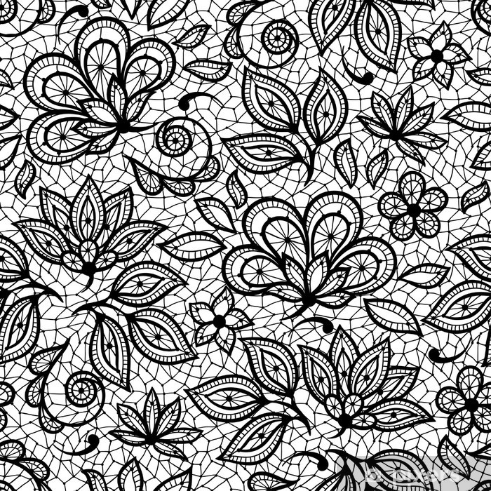 Old Lace Seamless Pattern Ornamental Flowers Vector Texture Sticker Pixers We Live To Change Lace Drawing Lace Painting Seamless Patterns