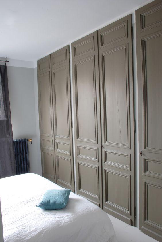 placard avec des portes anciennes placard original placard entre rangement placard entree vestiaire - Porte De Placard Originale