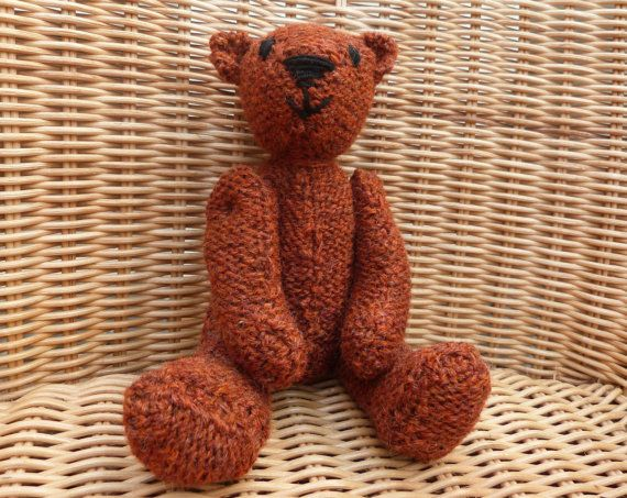 ginger orange amber rust teddy bear hand made brown by WoolyLily