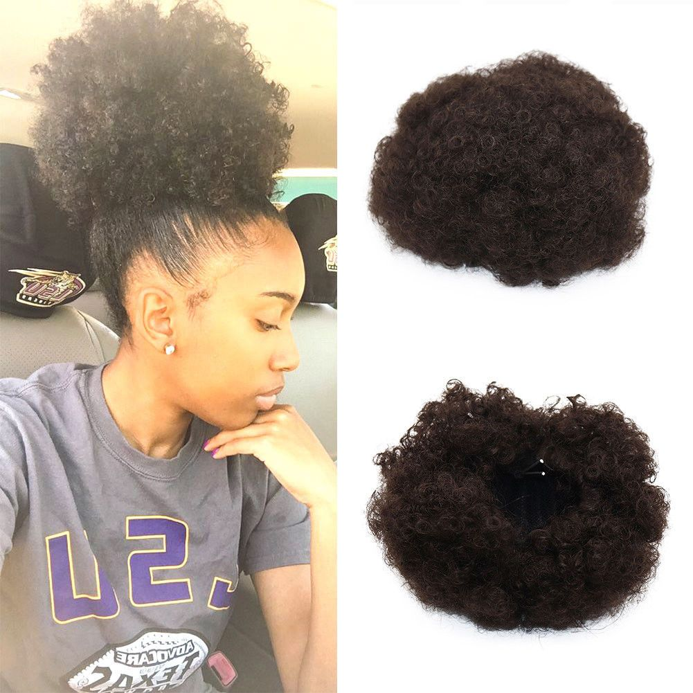 Afro Kinky Curly Wrap Synthetic Clip In Puff Drawstring Ponytail