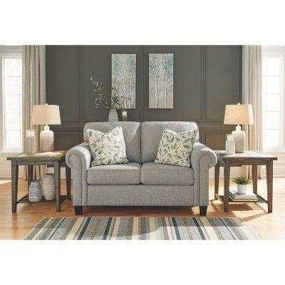 Best Alandari Loveseat Gray Signature Design By Ashley Sofa 400 x 300
