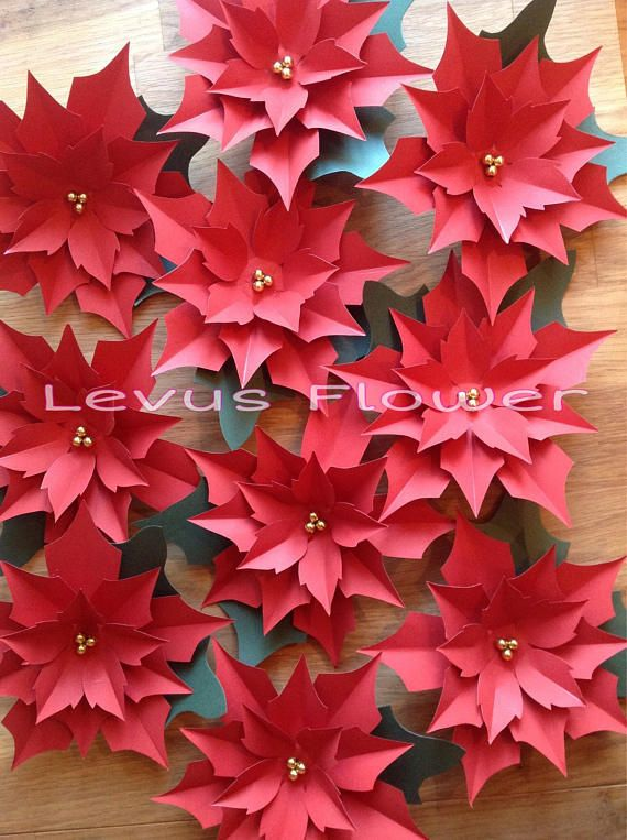 Large Paper Flowers Giant Paper Flowers Paper Poinsettia Christmas Decoration Paper Flower Backdrop Paper Christmas Wall Decor Giant Paper Flowers Paper Flowers Large Paper Flowers