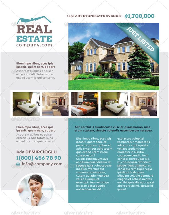 Free Real Estate Flyer PSD Templates Download Real Estate - Free real estate flyer templates download