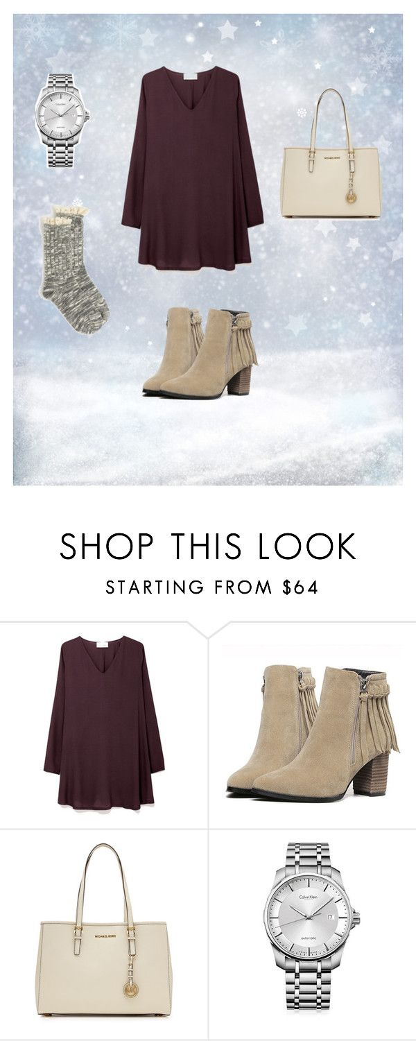 """Not so cold Christmas"" by reagyn ❤ liked on Polyvore featuring American Vintage, MICHAEL Michael Kors and Calvin Klein"
