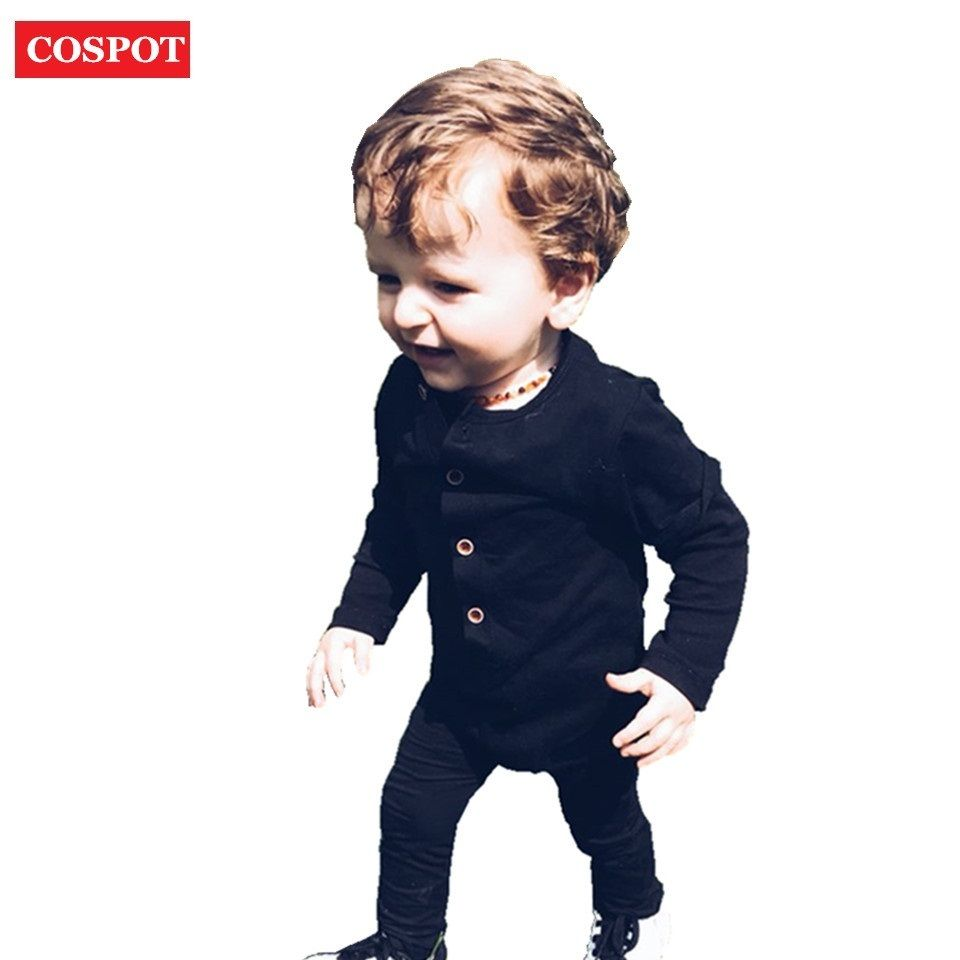 6dc64dd9e 2016 New Fashion Baby Boys Rompers Newborn Cotton Long Sleeve ...