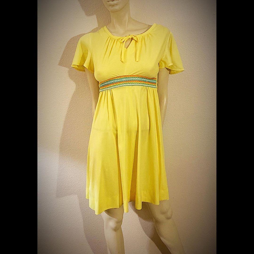 60s Babydoll Dress With Smocked Waist Darling Deb By Ruth Eib Etsy Vintage Dresses For Sale Babydoll Dress Festival Maxi Dresses