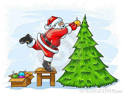 christmas tree santa claus christmas tree - Santa Claus Tree