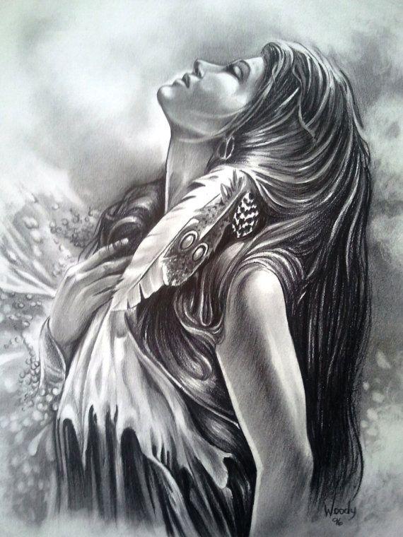 Custom Portrait Or Figure In Graphite Adult Coloring Arte Nativo