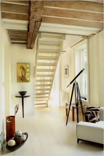 Exposed Ceiling Beams Vs Crown Molding More Rustic Doable If High And Lighter Reclaimed Wood