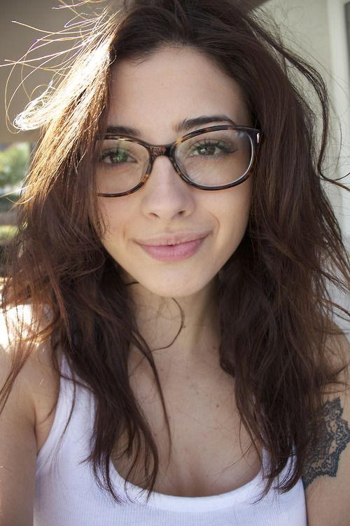 Tortoiseshell Glasses Long Beautiful Hair Nerd Style Eyewear Eyeglasses Hair