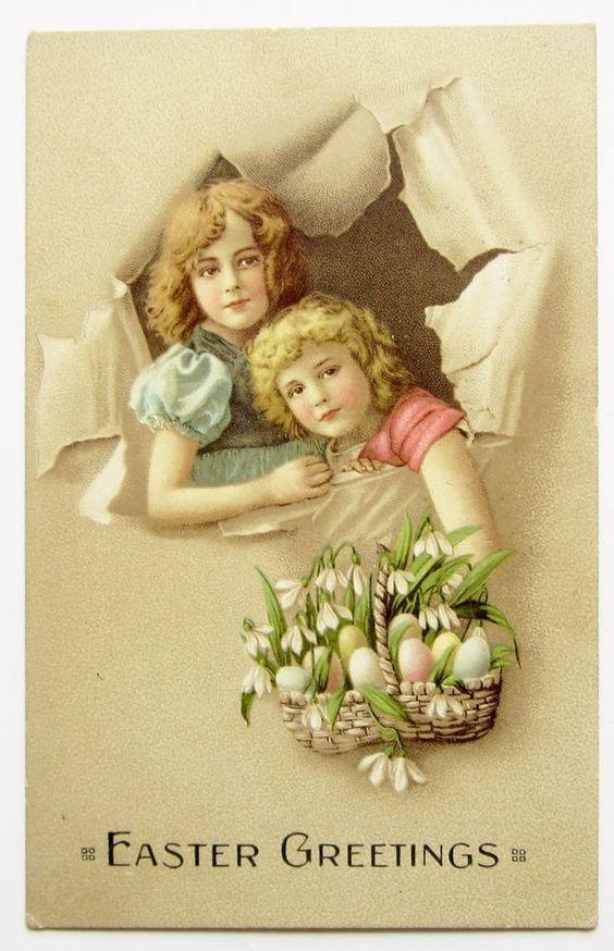 EASTER Basket Grete & Hanni Reinwald Artist's Image Postcard in Collectibles | eBay: