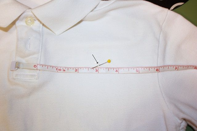 Technique to measuring your polo type shirts for mini or other