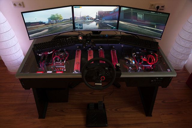Gaming Table With A Built In Pc Video Game Art Pinterest
