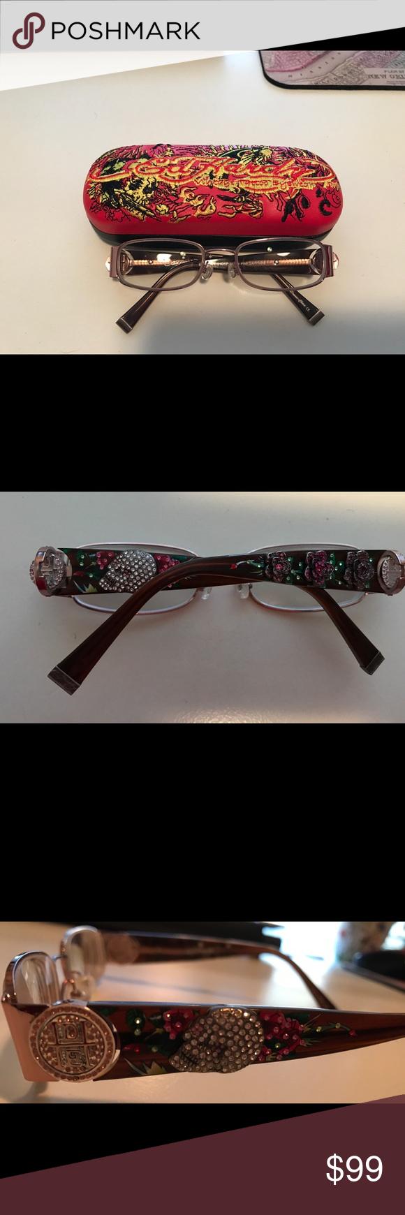 fcbda27616a Ed Hardy Eyeglasses Frames EH0711 Ed Hardy Eyeglasses Frames like new EH0711.  51-17