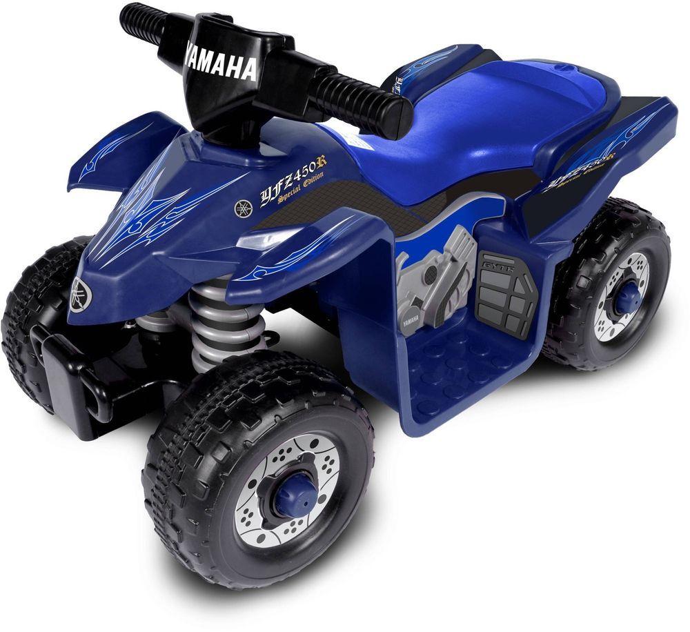 Yamaha Atv Kids Ride On 6 Volt Battery Ed 4 Wheeler Blue Toddler Toys New