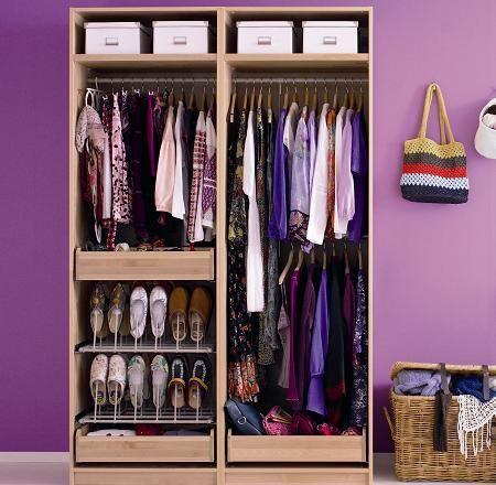 Como organizar ropa sin closet buscar con google cocinas peque as wardrobe storage closet - Como organizar armarios ...