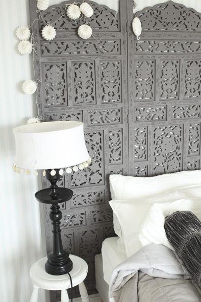 Make Your Bedroom Sizzle With Unique Headboard Designs Screen Headboard Bedroom Design Folding Screen Headboard