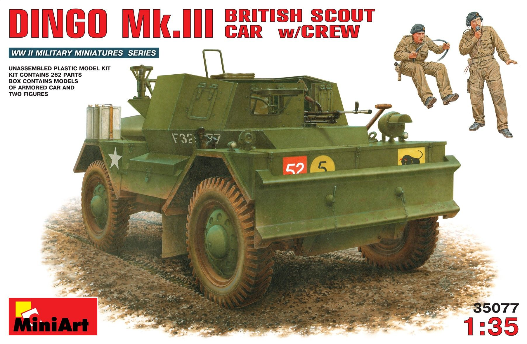 1 35 Daimler Dingo Mk 3 With Crew Armoured Car And 2 Figures