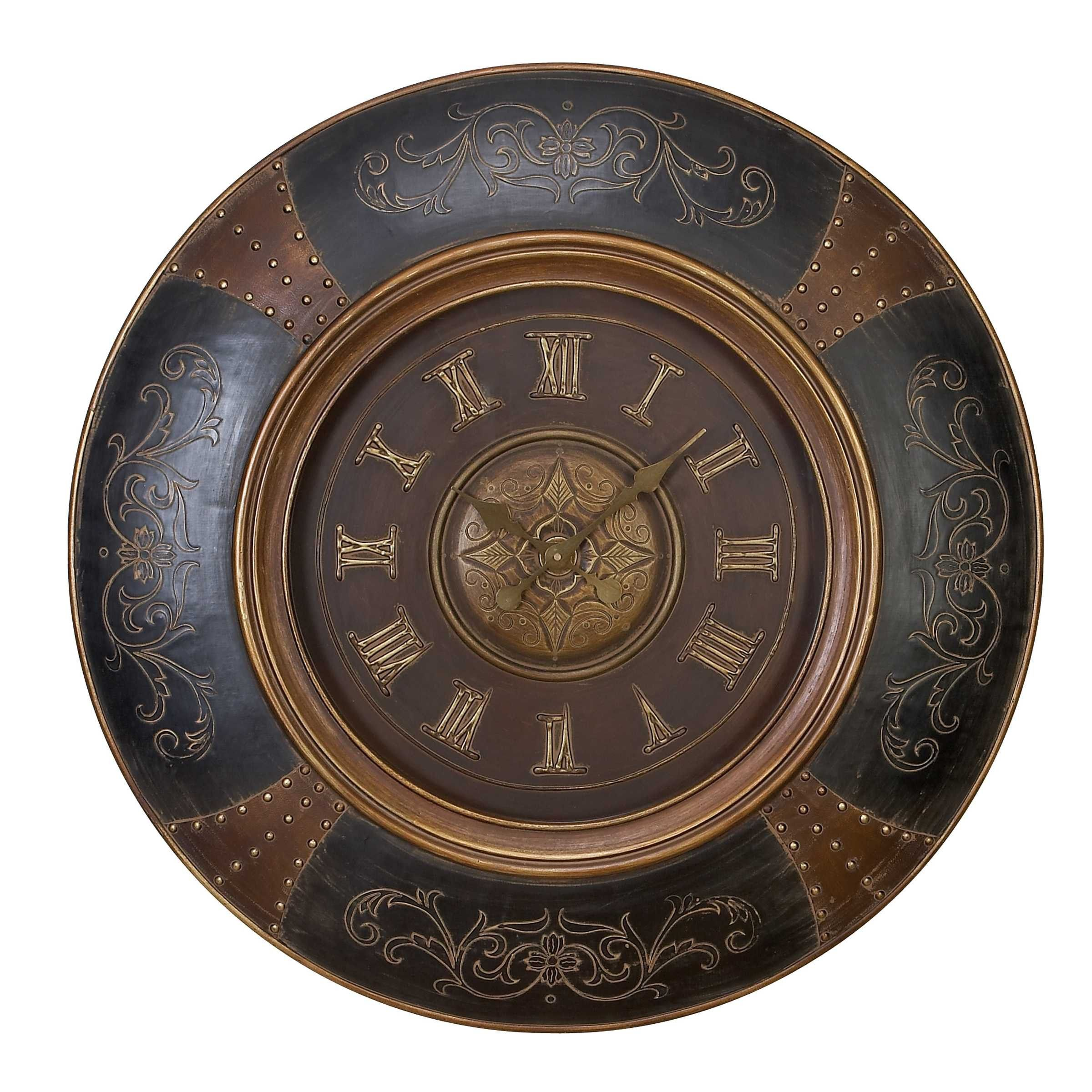 Buy wood leather wall clock with royal look at hhoutlets for only wood leather wall clock with royal look amipublicfo Gallery