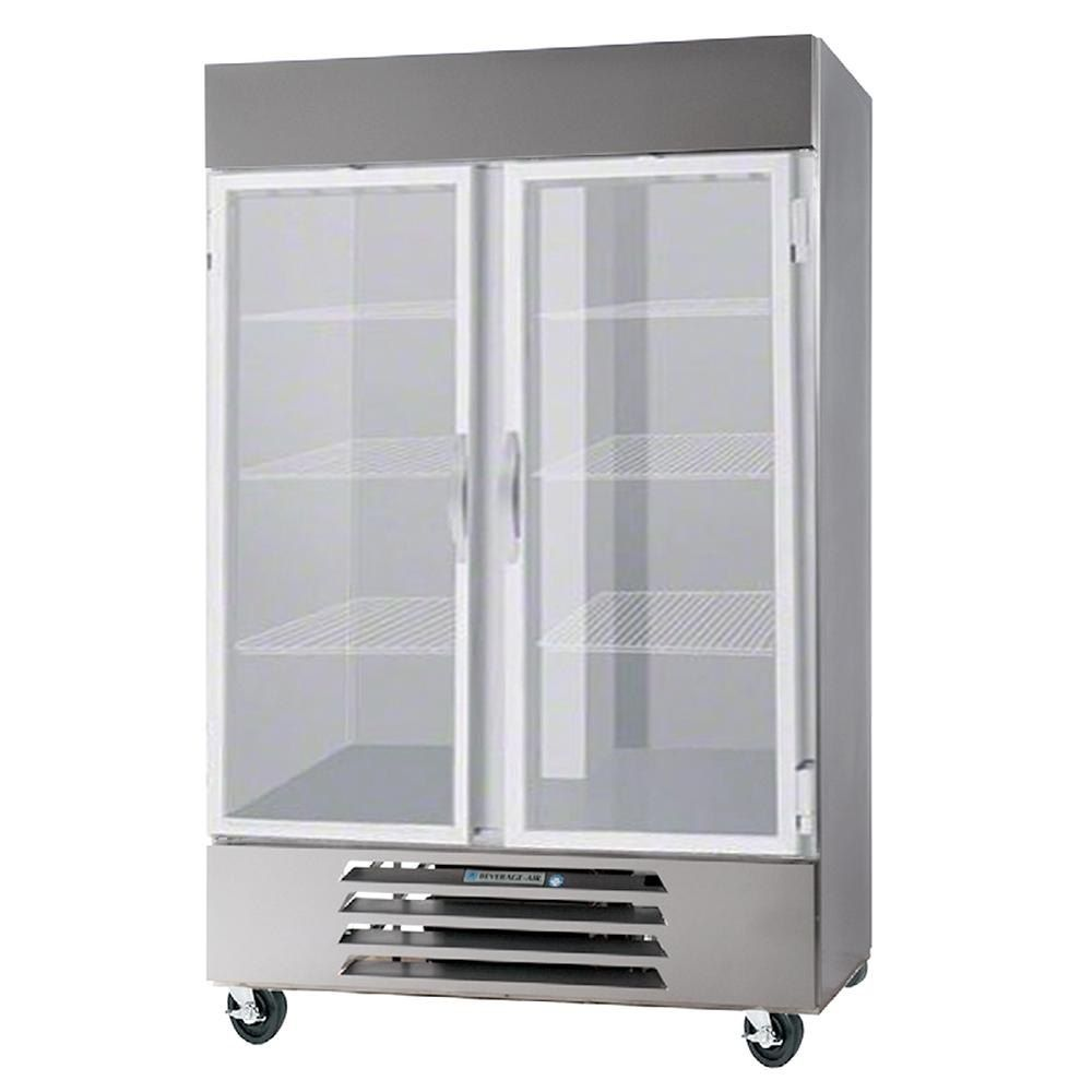 Beverage Air Hbr49hc 1 G Horizon Series 52 Bottom Mounted Glass Door Reach In Refrigerator With Led Lighting Glass Door Refrigerator Freezer Locker Storage