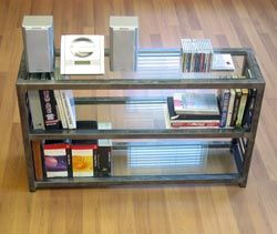Modern Coffee Table Bookcase Shelves Home Living Room