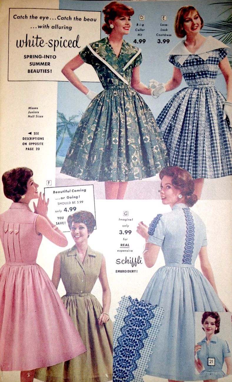 1950s Florida Fashions Catalog Pages Vintage Dresses Vintage Dresses 50s Fashion