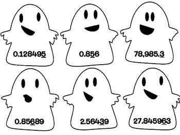 Halloween Center: Decimal Place Value Spooky Sort {Freebie