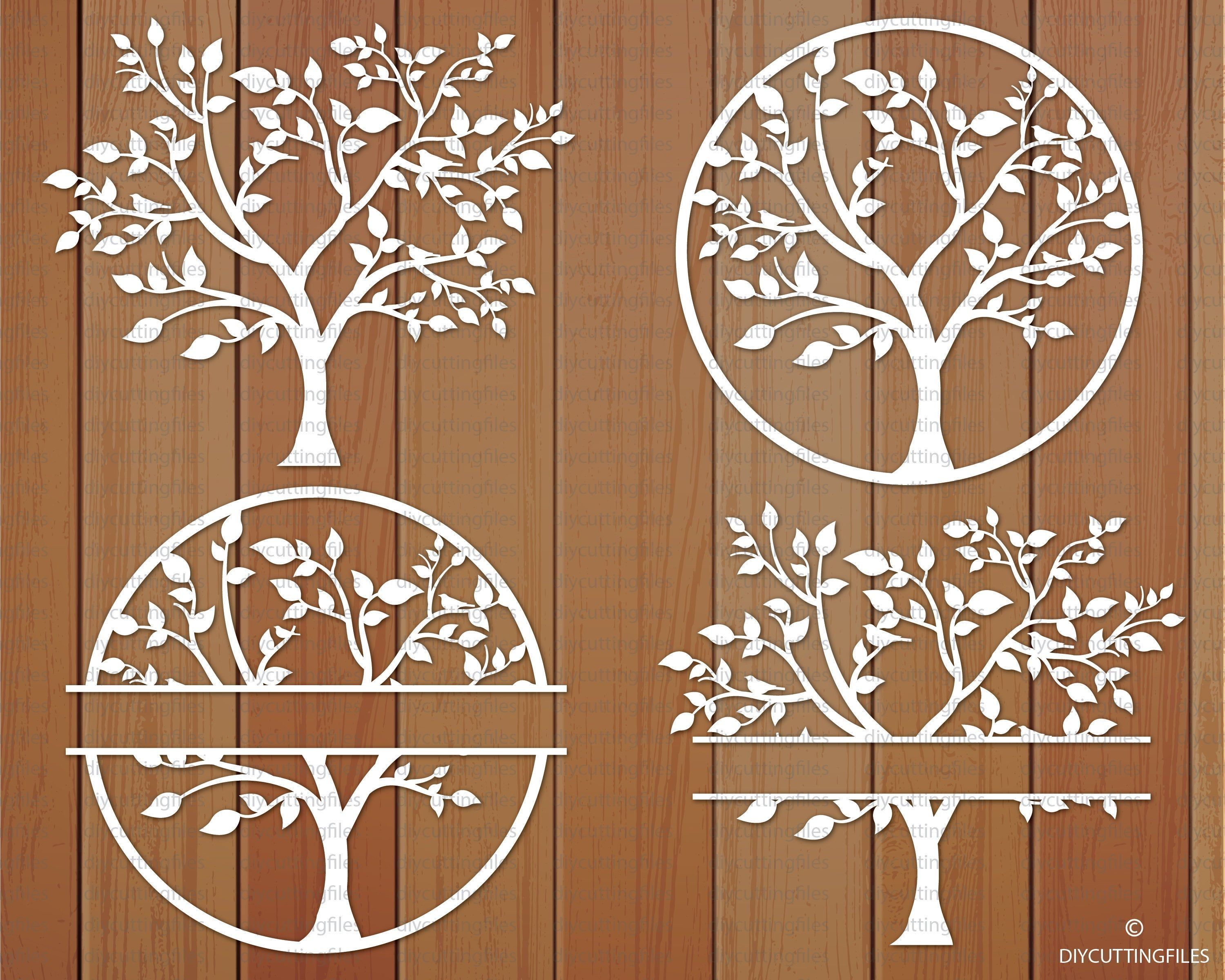 Tree of life svg, Split tree of life, Tree of life logo, Tree cut file, Tree Cricut Svg, Tree Paper cut template, Tree Paper cut svg For personal and commercial use. Original designs in SVG, PNG, EPS formats. - This design is for hand and machine cutting as it includes both SVG and PNG files. This item is a digital file, please note, no physical item will be sent. - After purchasing a digital file, you'll see a View your files link which goes to the Downloads page. INCLUDED IN THIS ZIP FILE: 4 SVG file 4 PNG files 4 EPS file 4 JPEG FILE 1 DXF FILE - with 4 tree files 1 AI FILE  - with 4 tree files 1 PDF FILE - with 4 tree files These designs can be cut from different materials: paper, regular and heat transfer vinyl, stencil material etc. Just download the files you like and cut them using your cutting machine (Cricut, Silhouette etc.). You can use these designs for DIY projects, heat transfer designs on t-shirts and bags, create your own gift packaging, decorate notebook covers, in interior design (decorate walls or canvases) decorate furniture and various household items, scrap booking, decorate photographs, use as a part of a framed paper cut out. TERMS & CONDITIONS DO NOT PASS ON/DISTRIBUTE, COPY or ALTER the design in any way. If you would like to use SVG format of this design to cut using your cutting machine, please make sure this format is compatible with your machine before purchasing. No refunds will be issued on digital items. - This item is a digital file, please note, no physical item will be sent. FOR PERSONAL and COMMERCIAL USE ONLY. Allowed up to 100 paper cuts/artworks produced from this template to be sold. You can use other materials, such as vinyl or wood. Please always give credit for the produced designs from this template and photographs taken of it to DIY CUTTING FILES. - DO NOT PASS ON/DISTRIBUTE, SELL, COPY or ALTER the design in any way. If you have any questions, please let me know!