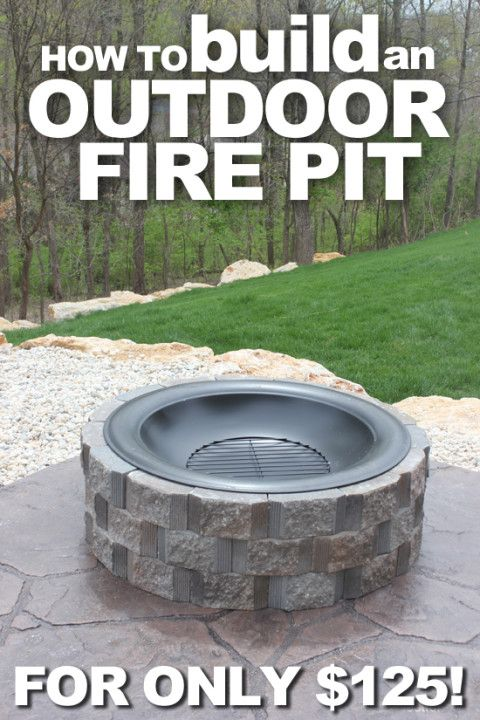 How to Build a Patio Firepit | Fire pit patio, Outdoor ...