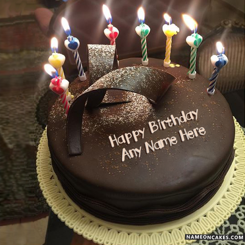 New Arrival Chocolate Birthday Cake With Candles Hbd Cake In 2019