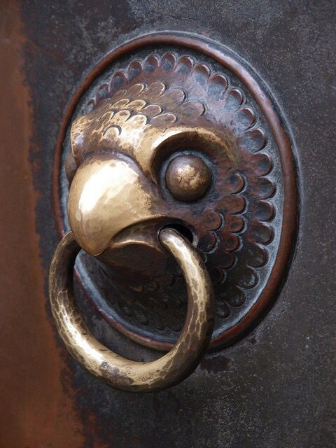 Falcon door knocker | Decoration | Pinterest | Doors and Built ins