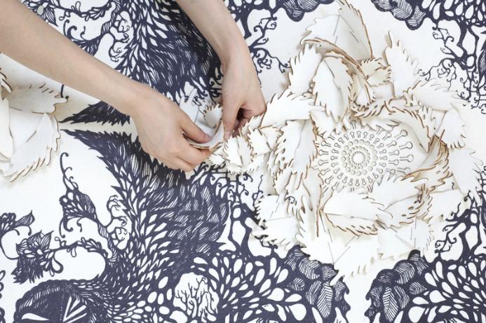 Eunsuk Hur textile appliqués