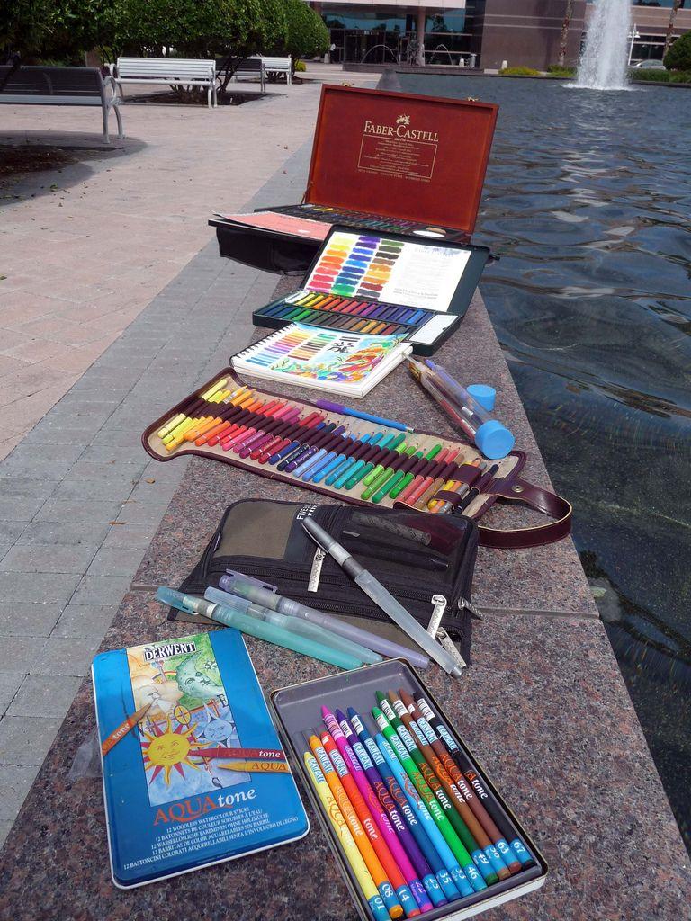 Faber Castell Albrecht Durer Aquarelle Sticks Set Of 60 Wooden Box