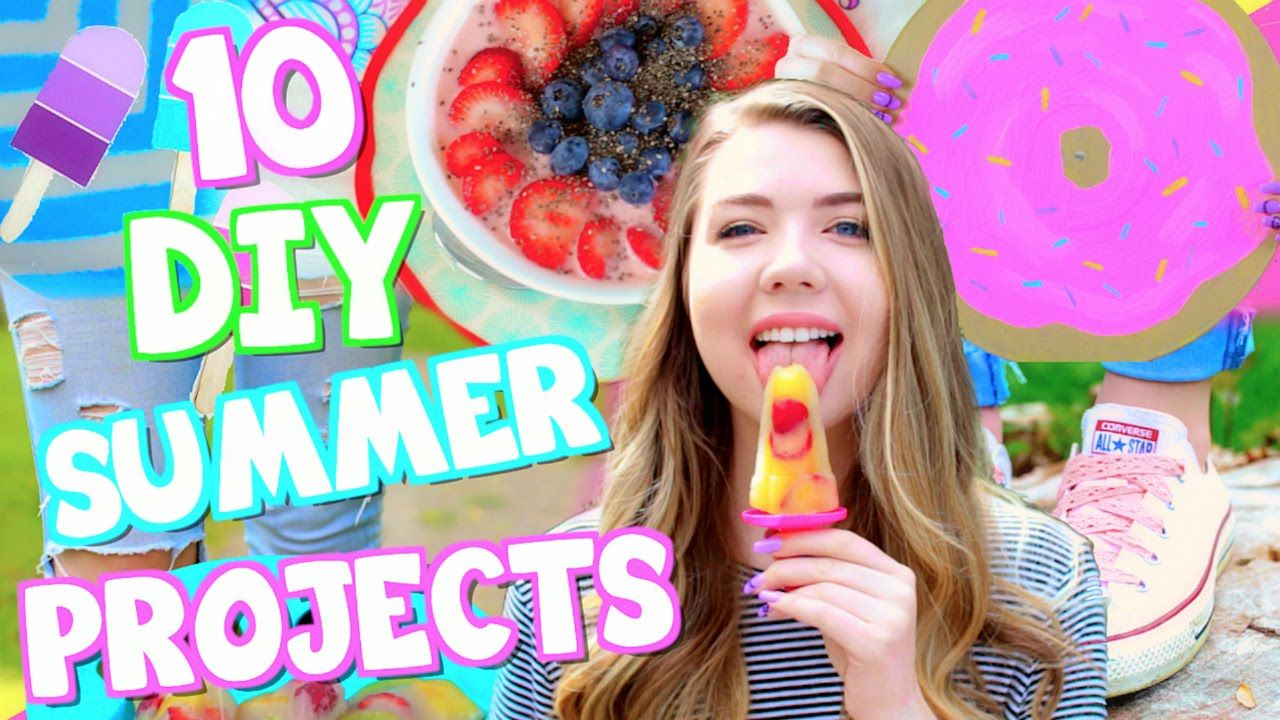 10 Diy Summer Projects You Need To Try Room Decor Snacks Clothes More Summer Diy Projects Summer Diy Summer Projects