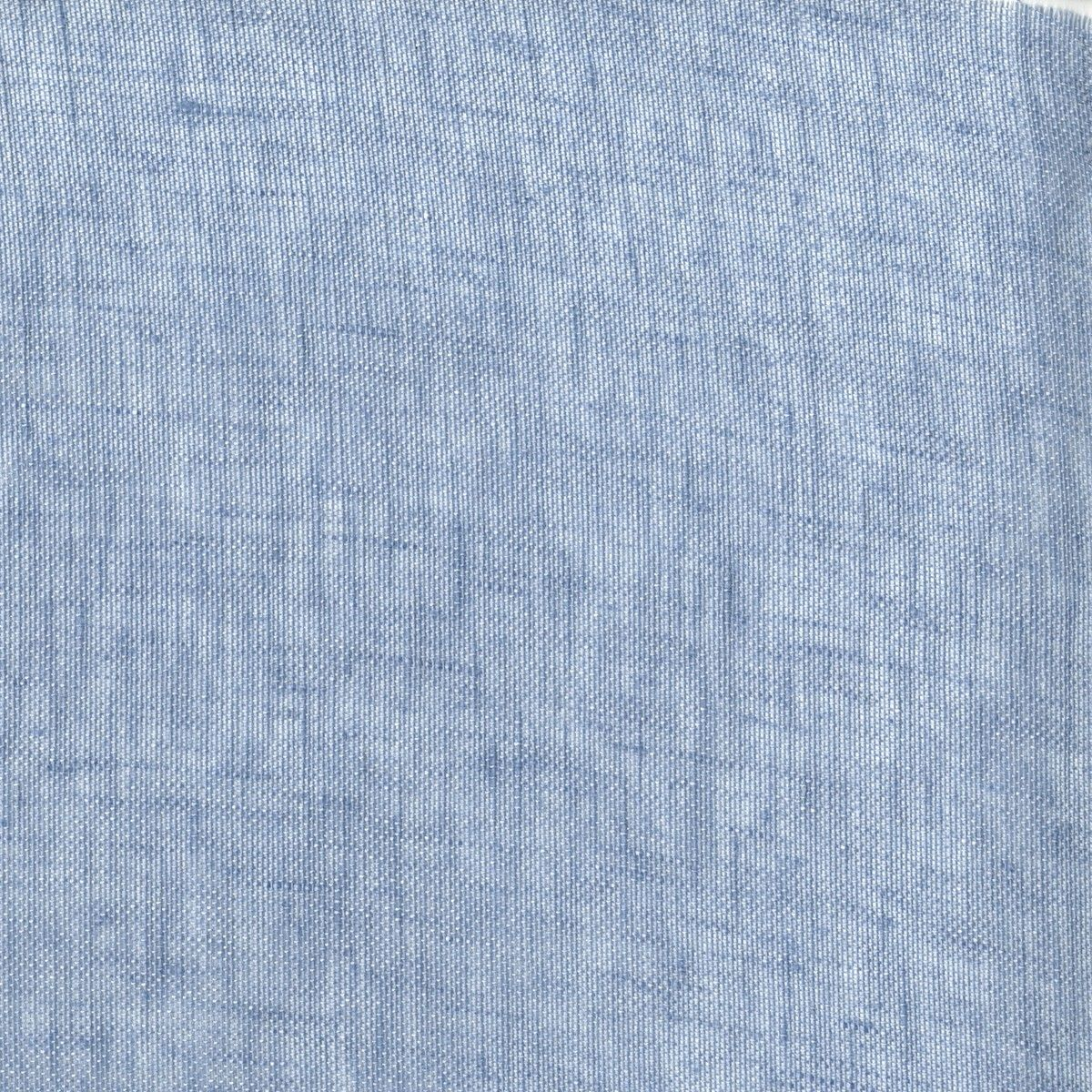 Fabric For Bedding anichini | linen solid mesh in porcelain blue - available in