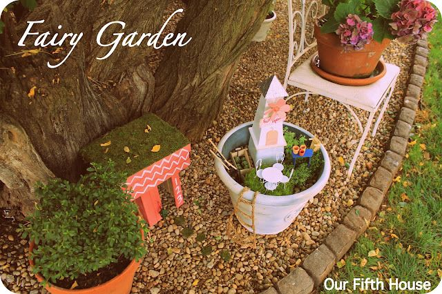 Fairy Garden: Building A Home For TinkerBell....this S So Cute