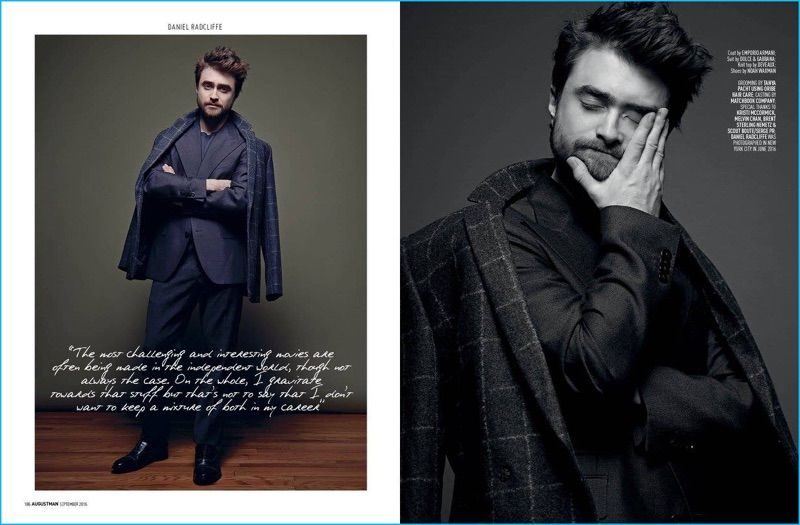 "Daniel Radcliffe wearing Mr. Sid label Noah Waxman's ""Beacon"" chukka boot. Get yours today at Mr. Sid."