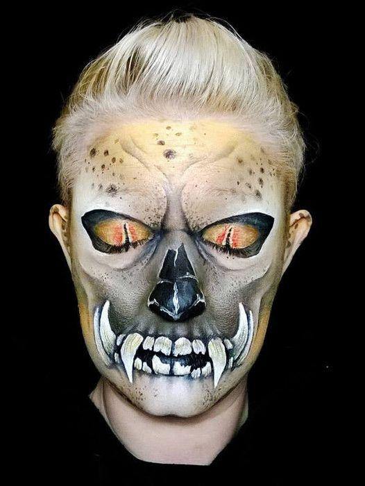 Face paint Halloween and FX Makeup Pinterest Face, Makeup and - face painting halloween ideas