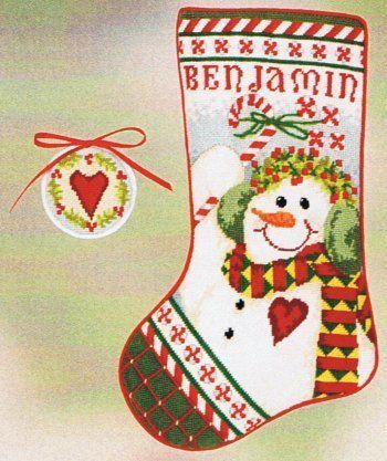 Snow View Patterns O7O4 Christmas Stockings Cross Stitch Kits Embroidery Kit